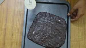 Chocolate cookies -cut into square