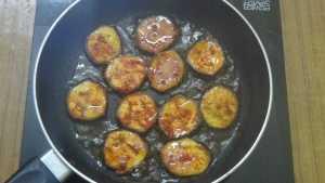 vazhakkai roast -fry bottom side for 5mins