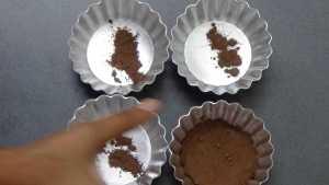 Choco lava cake -dust