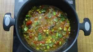 Thiruvathirai kuzhambu -boil