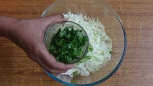 Cabbage pakoda -coriander