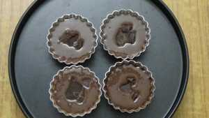 Choco lava cake -bake for 15-20m