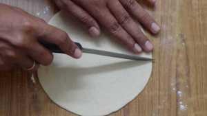 Samosa -cut half