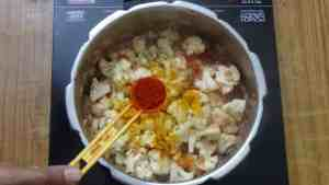 Cauliflower pepper masala -chilli powder