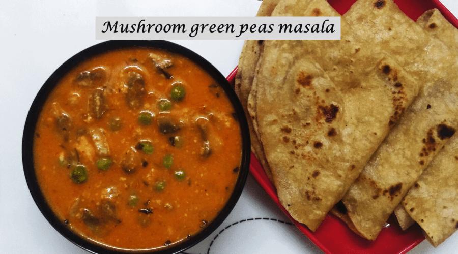 Mushroom green peas masala -feature