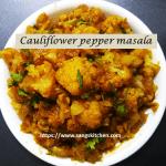 Cauliflower pepper masala -thumbnail