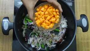 Millet upma -carrots