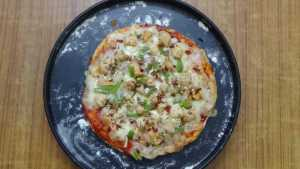 Chicken pizza -baked