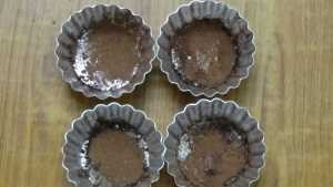 Chocolate moist cupcake -dusted