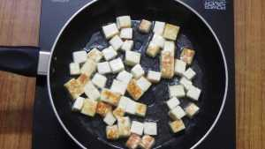 Kadai Paneer -fry in oil
