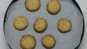 Coconut cookies -baked on oven