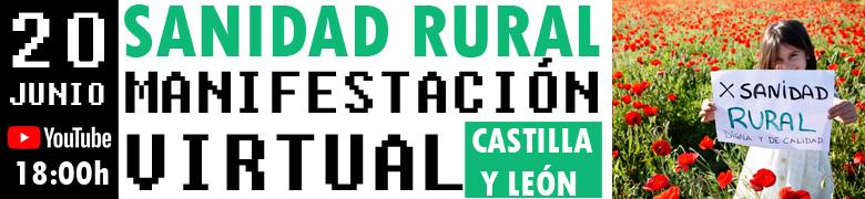 Manifestación virtual por la sanidad rural en Castilla y León