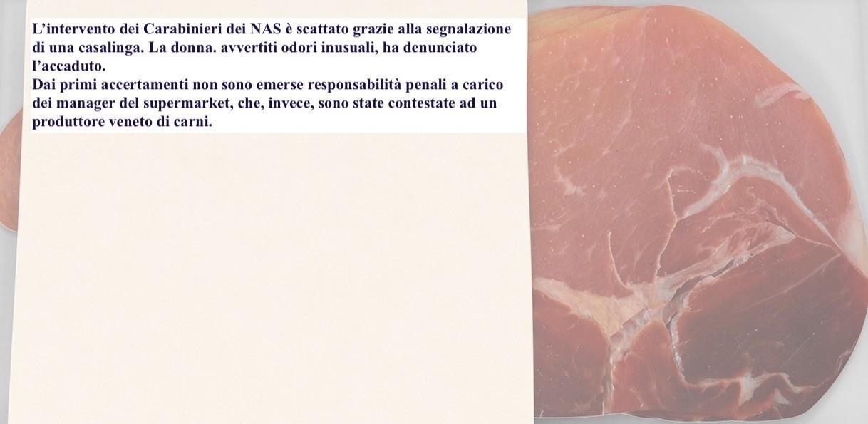 Carne 'infetta' al Supermarket