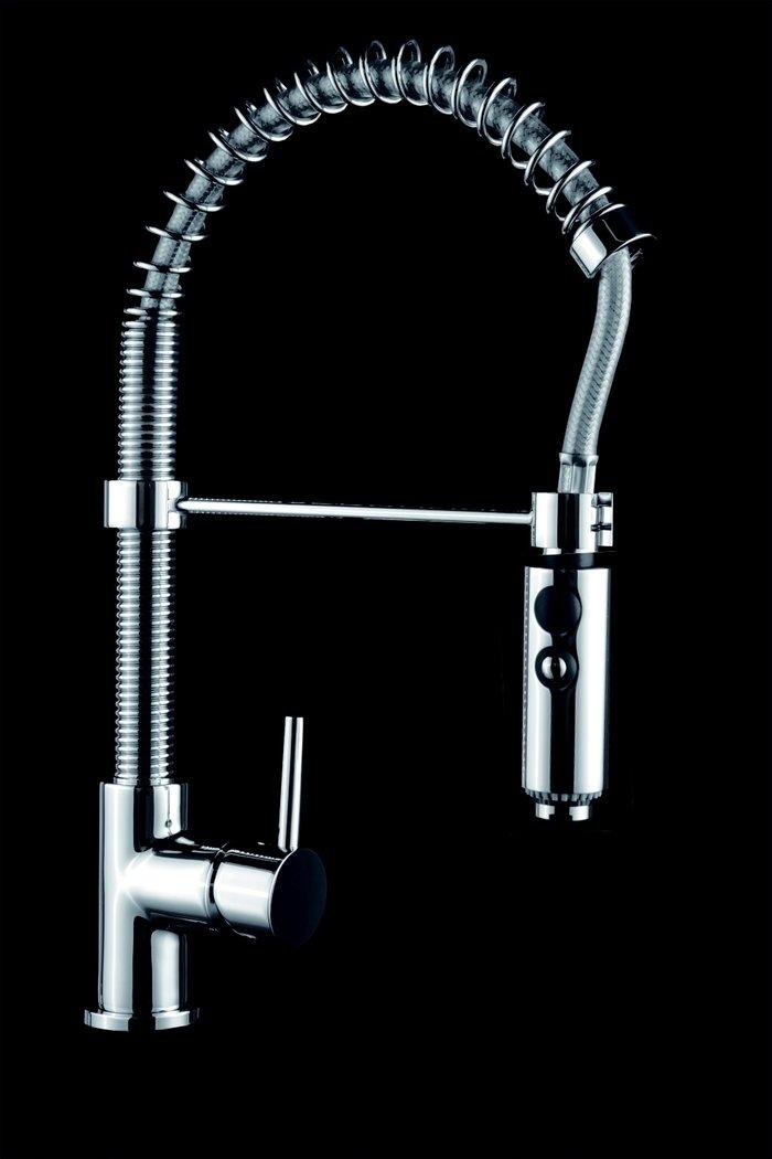 Design Gastro Kchenarmatur M6  verstellbare Metall Brause 2 Strahlarten Brause aushngbar