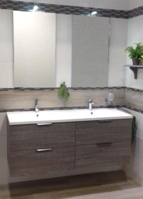 meuble sous vasque loft de 140 cm a 4 tiroirs