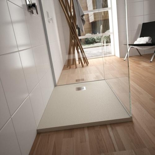 receveur de douche ultra flat s gris beton 80x80 cm