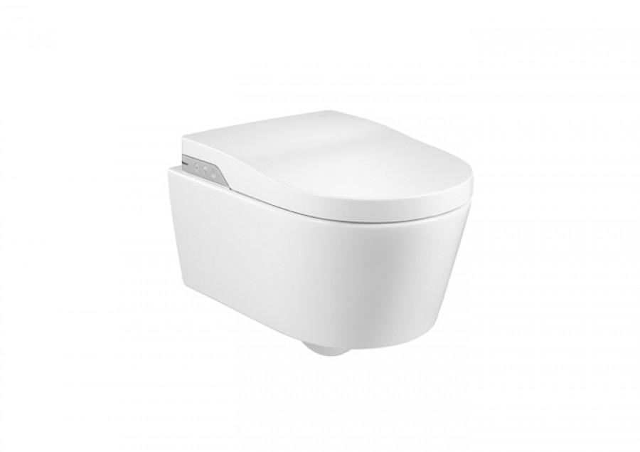 wc japonais suspendu in wash inspira sans bride rimless roca