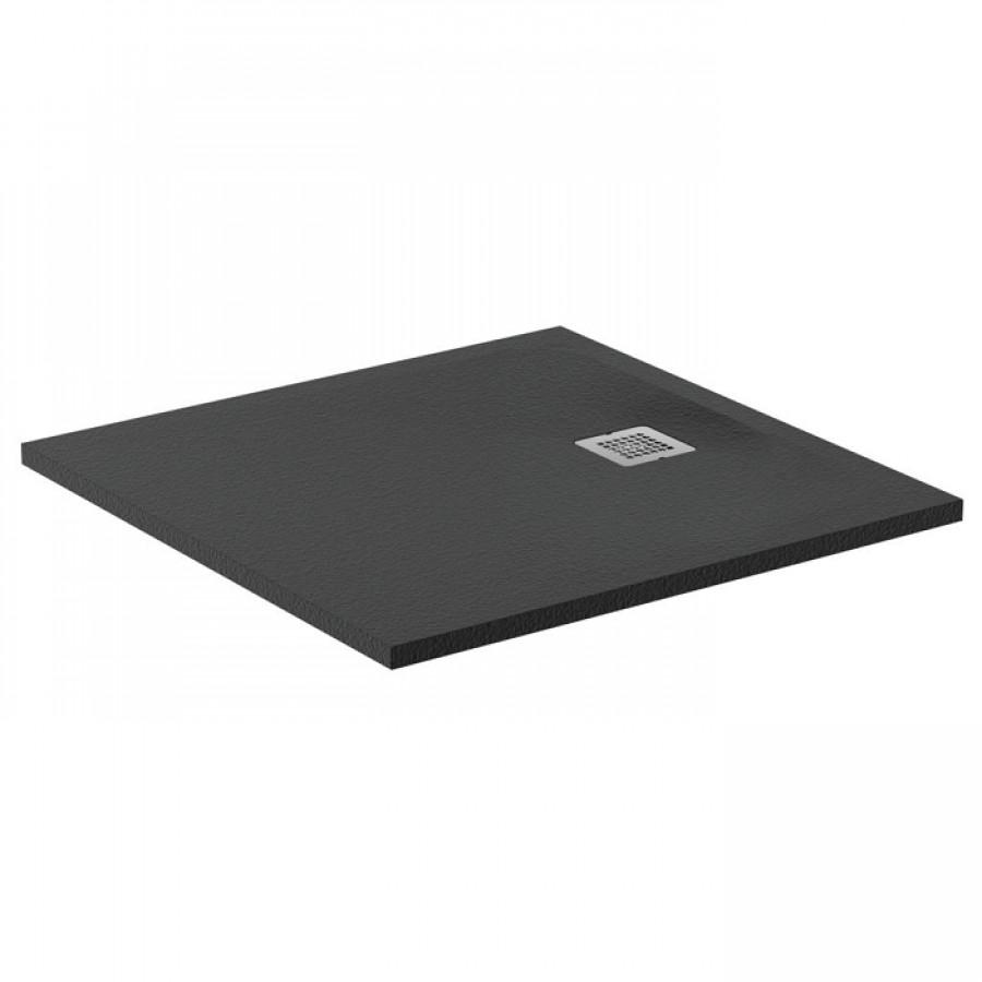 receveur de douche ultra flat s noir intense 80x80 cm