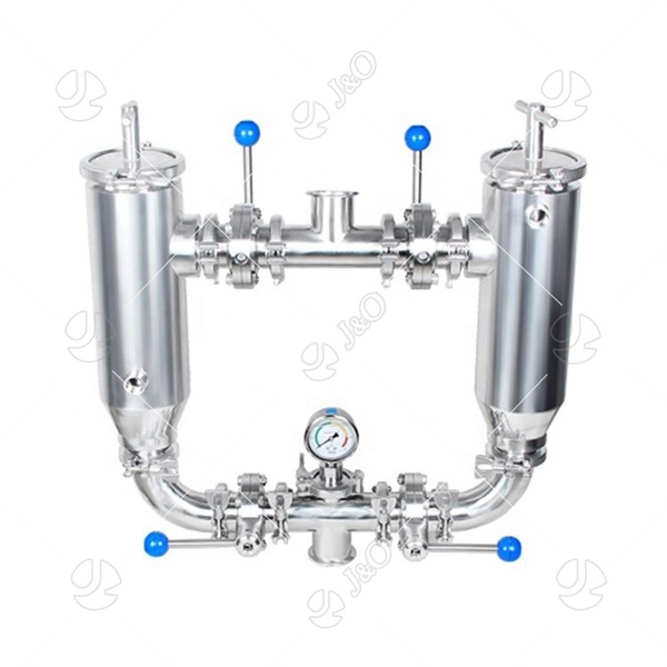 Sanitary Stainless Steel Strainer Air Water Duplex Filter
