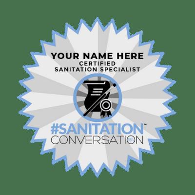 Sanitation Conversation Digital Badge Sample