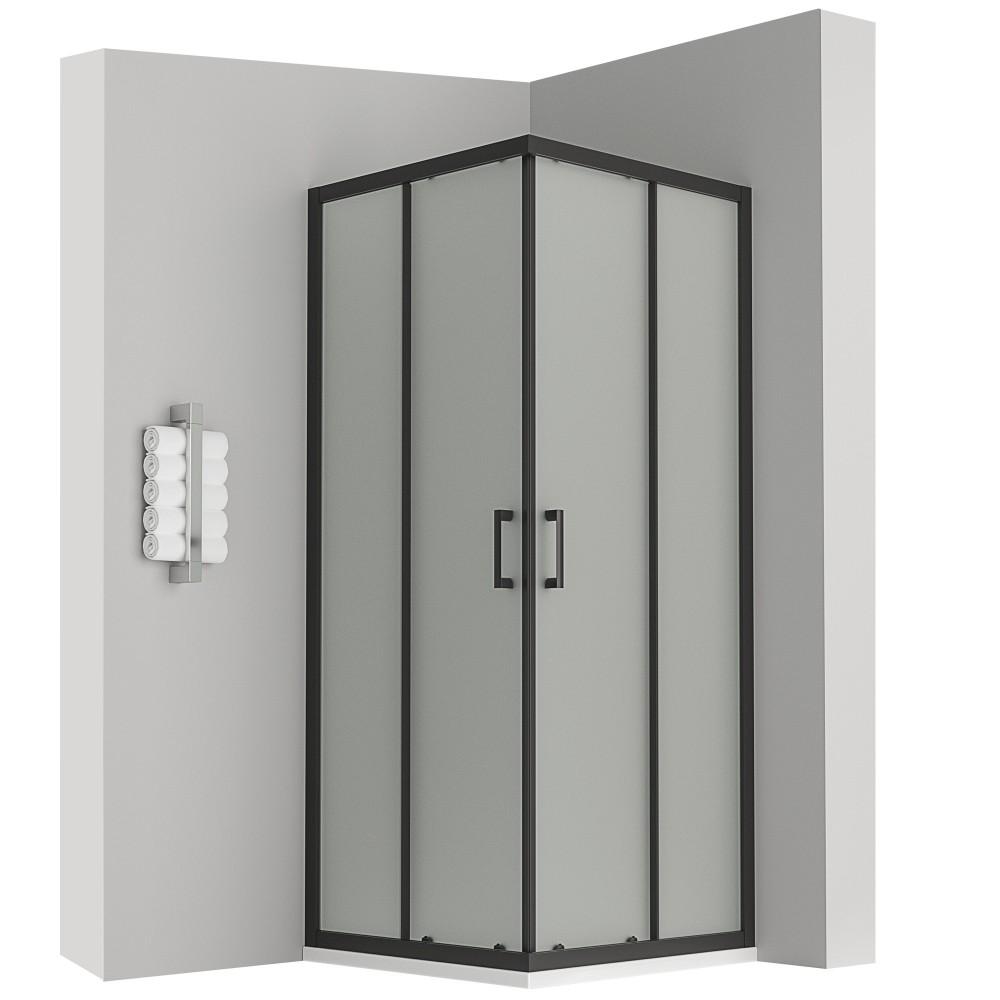 lanablack cabine douche h 190 cm porte coulissante