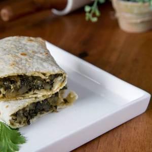 Spinach Roti wrap