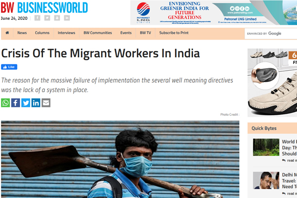 Crisis of migrant workers in India