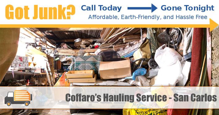 Junk Removal San Carlos - Coffaro's Hauling Service
