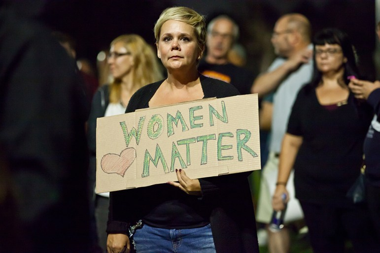Donald Trump's comments about women, as well as who he's picked to fill out his administration, have put people on high alert. (Photo by llewellynchin, via Shutterstock.com)