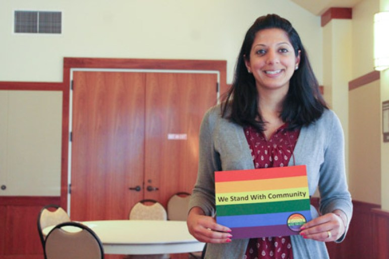 Arti Sharma, a member of the Mountain View Human Relations Commission.