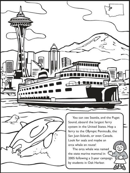 For the kids ~ The Washington State Coloring Book