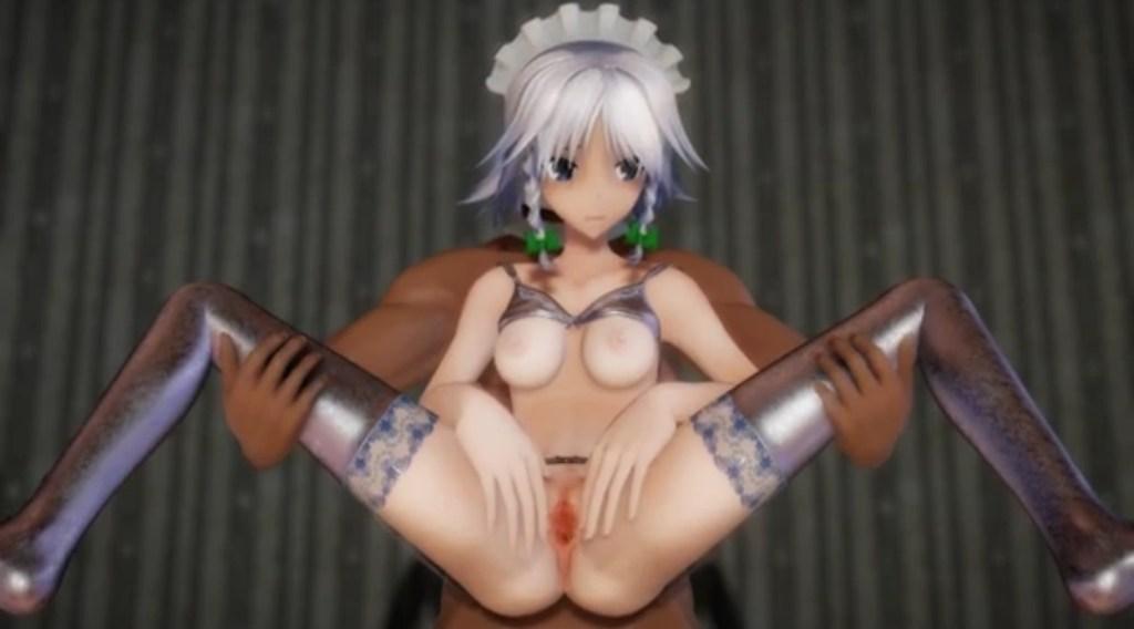 【東方MMD】Izayoi Sakuya Ero-MMD キャプチャー画像 (10)
