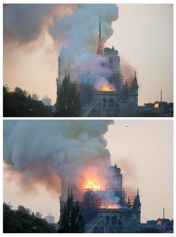ノートルダム寺院で大火災 尖塔崩落、失火容疑で捜査 - 読んで見フォト - 産経フォト