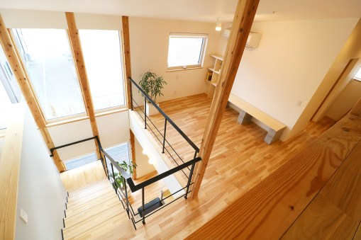 AKITA×DESIGN STANDARD300 由利本荘モデルハウス 2階 螺旋階段