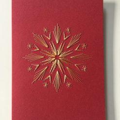 Nr 6 Strahlenstern rot-gold