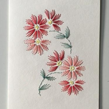 Nr 8 Blüten vanille-rot