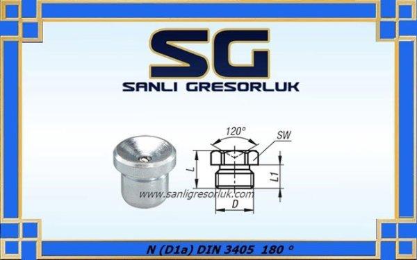 Gresorluk Cukur Basliğ Cakma Duz Tip Paslanmaz 180 ° N (D1a) DIN 3405