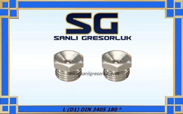 Gresörlük çukur başlı dişli düz tip Paslanmaz L (D1) DIN 3405 180 ° copy