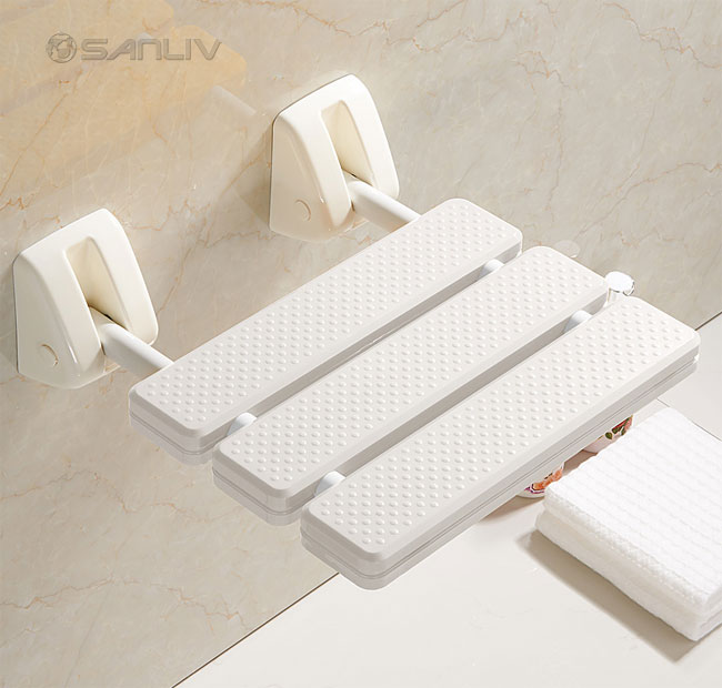 Wall Mounted Folding Up Shower Seat  Shower Foot Rest