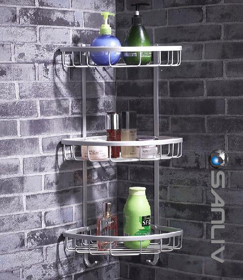 Wire Triple Shelf Corner Shower Basket B5131  Wire Basket