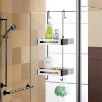 Over Door Double Shelf Hanging Shower Caddy