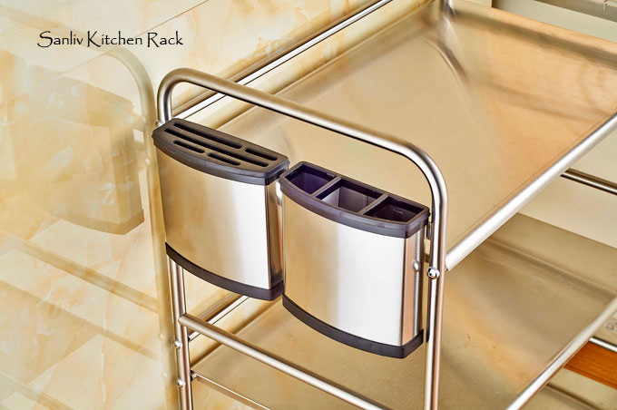 Chrome 3Tier Utility Microwave Stand Storage Kitchen Cart