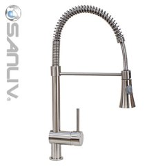 Kitchen Pull Down Faucet How To Paint Cabinets Grey Brushed Nickel 28113 Pullout Spray