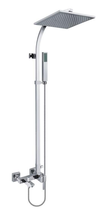 Rainshower Set With Bath Tub Faucet Bathroom Shower Fixtures