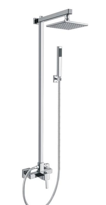 Rain Shower Mixer Set Brushed Nickel Bathroom Shower