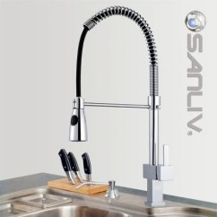 Pull Out Kitchen Faucets Cabinets Black Single Handle Faucet With Pullout Spray Head Down Mixer Tap 28111