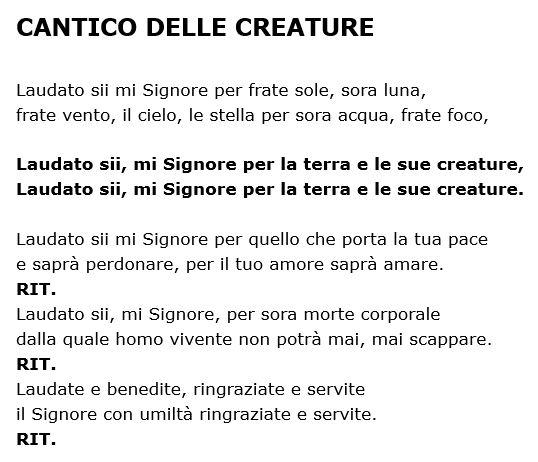 Il Cantico Delle Creature Di San Francesco Maestrarenata
