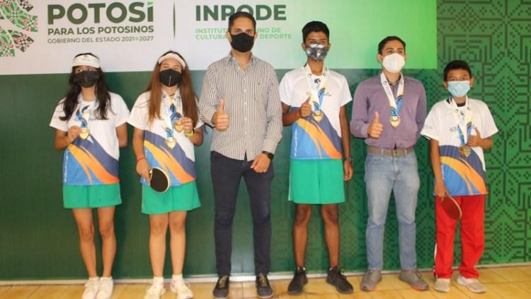 Con importantes logros regresó de Acapulco la Selección de Tenis de Mesa