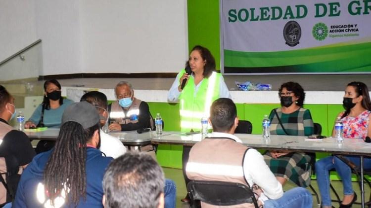 Leonor Noyola encabeza capacitaciones en materia de Protección Civil