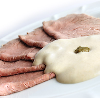 Cucina tipica piemontese vitello tonnato